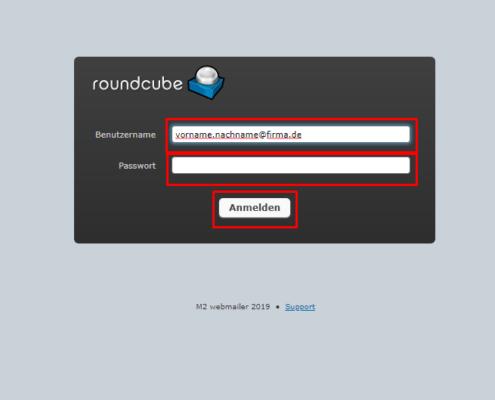 Anleitung Roundcube 1