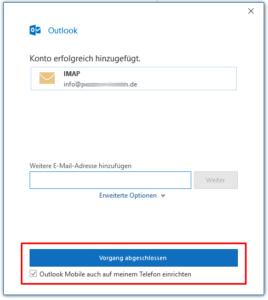 Outlook 2016 / Schritt 5